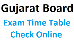 GSEB SSC & HSC Board Exam Time Table 2021