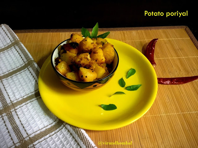Potato Fry | Urulaikizhangu Poriyal | How to prepare Potato Fry | Urulaikizhangu Poriyal with step by step photos | Vegetable side dishes