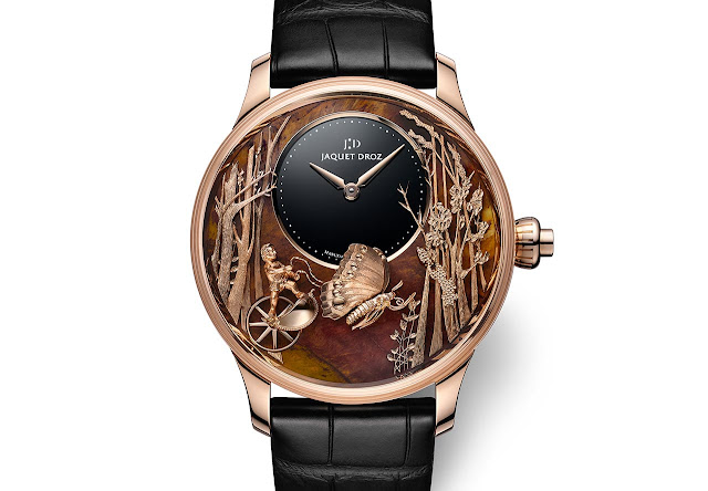 Jaquet Droz Loving Butterfly Automaton Chinchilla Red J032533275