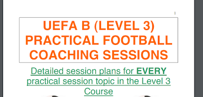 UEFA B (LEVEL 3) PRACTICAL FOOTBALL COACHING SESSIONS