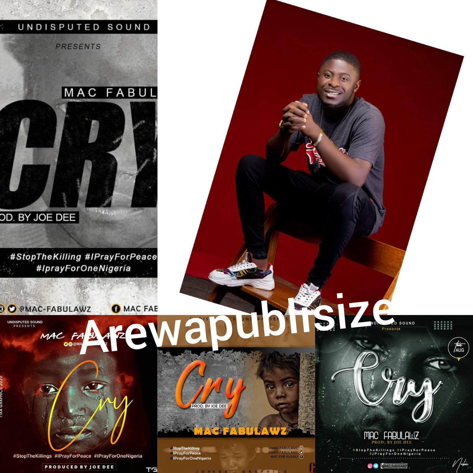 [Lyrics + video ] Mac fabulawz - Cry (prod. Joe dee) #Arewapublisize