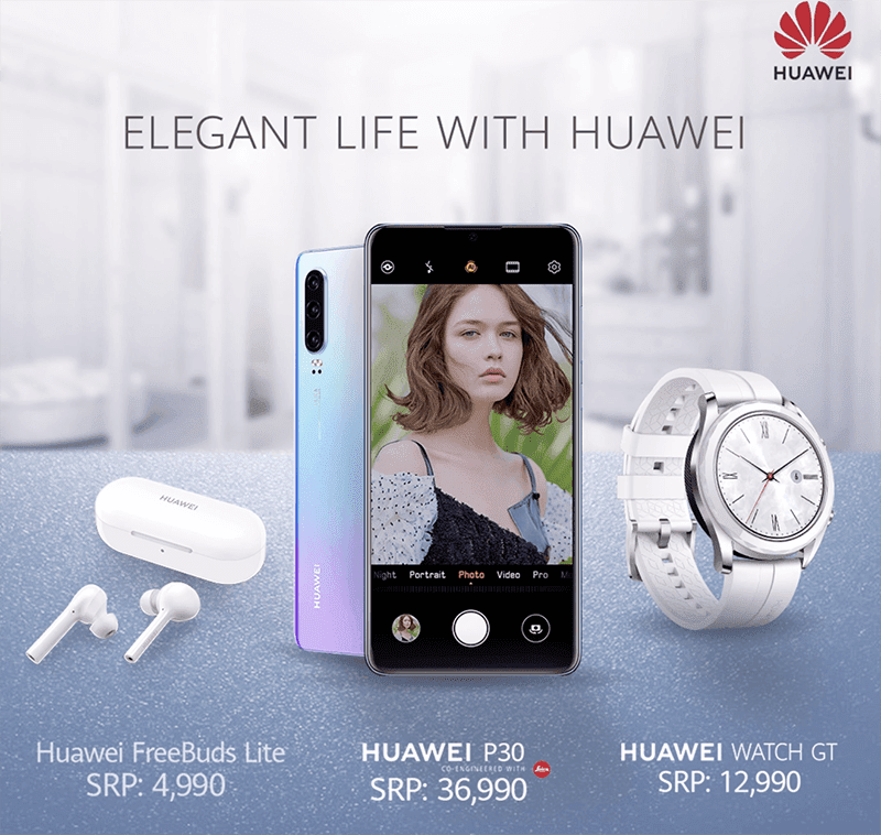 Select Huawei items will come with a FREE FreeBuds Lite or Band 3 this weekend!