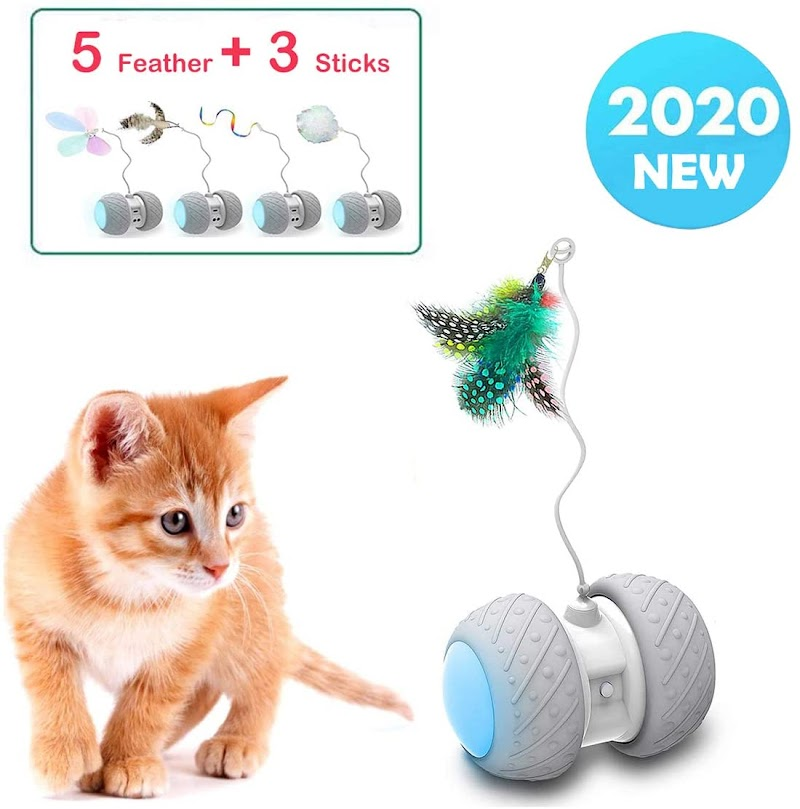 Robotic Interactive Cat Feather Toys  50% off