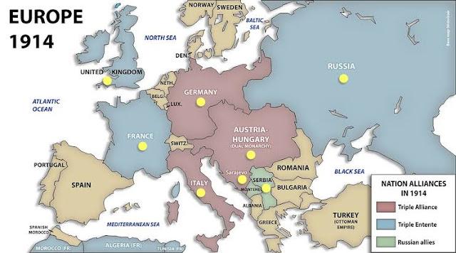 First World war - प्रथम विश्वयुद्ध क्यों हुआ - इसमें कितने देश शामिल थे