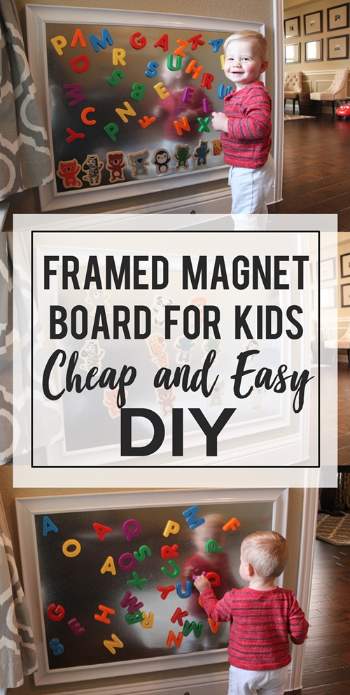 Framed Sheet Metal Magnet Board for Kids: a Tutorial