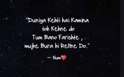 Bad boy Kamina Status  ( shayar ) in Hindi