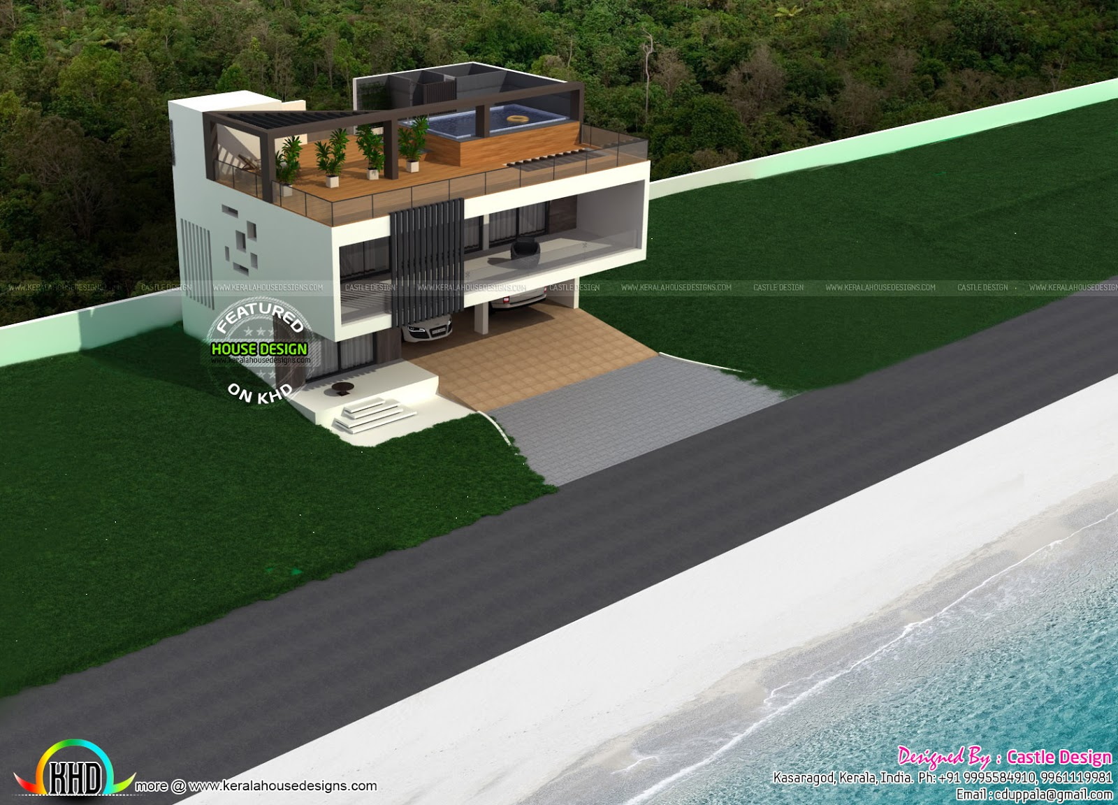 House With Terrace Swimming Pool Kerala Home Design And Floor Plans