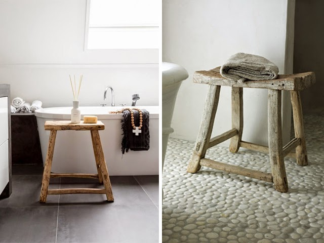 Lovers of mint blog d co boh me et cool lifestyle - Tabouret de bar en bois brut ...