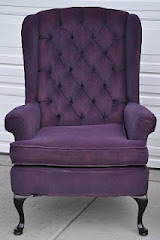 Painted Purple Tufted Halloween Chairs