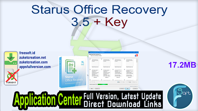 Starus Office Recovery 3.5 + Key