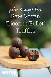 Raw Vegan Licorice Bullet Truffle Bliss Balls