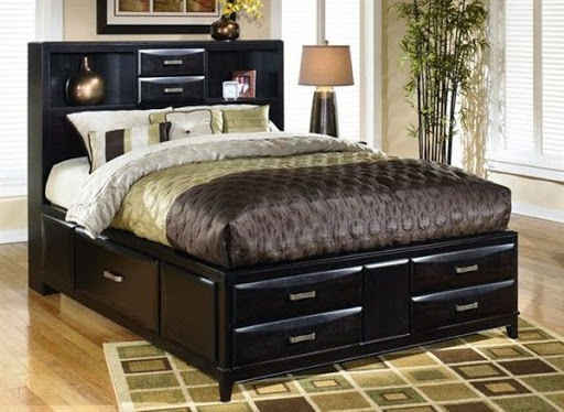 storage bed with headboard