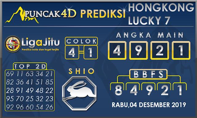 PREDIKSI TOGEL HONGKONG LUCKY7 PUNCAK4D 04 DESEMBER 2019