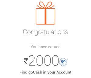 - Get Free 2000 Rs Gocash From Goibibo Android App