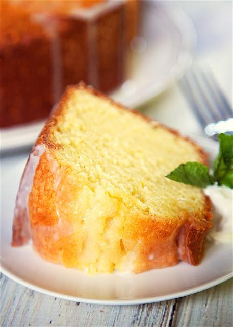 homemade lemon cake from scratch