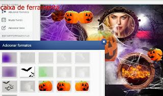 Fazer montagem dia do Halloween