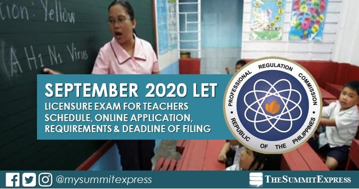 September 2020 LET Teachers board exam schedule, online application