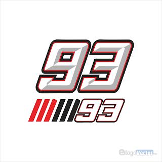 93 Marc Márquez Logo vector (.cdr)