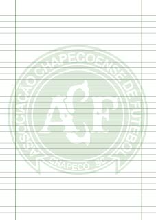 Papel Pautado do Chapecoense PDF para imprimir na folha A4