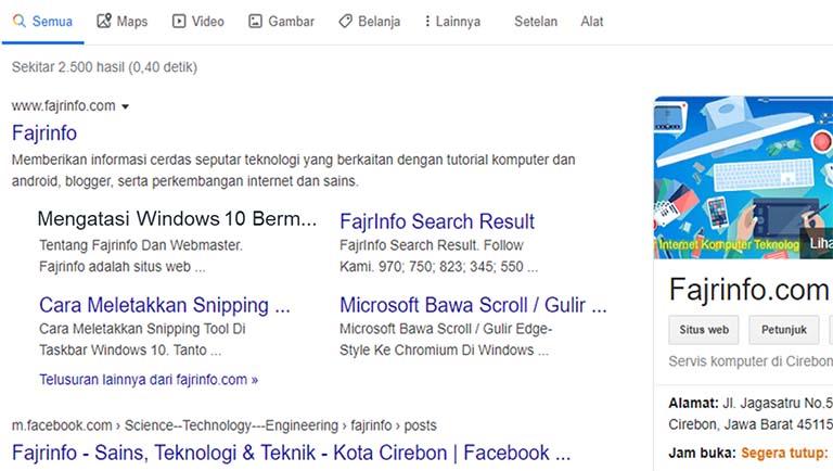 Mengubah Warna Link Yang Telah Dikunjungi Di Hasil Pencarian Google