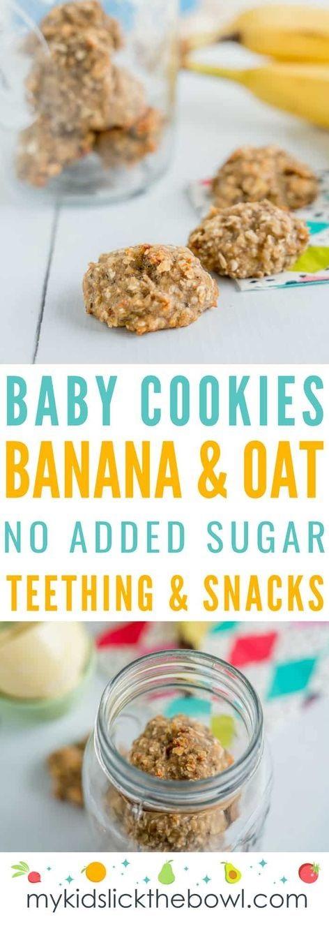 Basic Banana Oat Baby Cookies