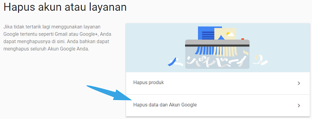 menghapus data dan akun google lainnya