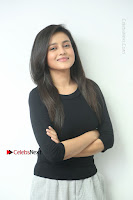 Telugu Actress Mishti Chakraborty Latest Pos in Black Top at Smile Pictures Production No 1 Movie Opening  0032.JPG