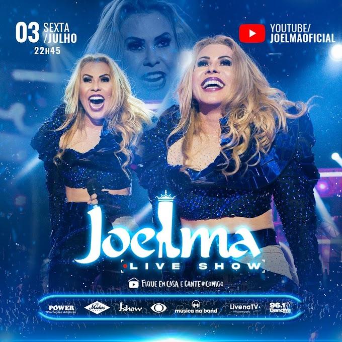 Joelma muda formato de live e cria show para reviver momentos e matar a saudade dos palcos