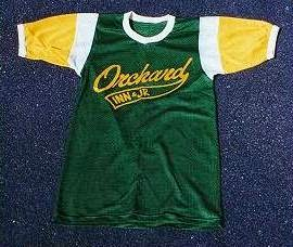 Our Orchard Inn softball team shirt