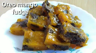 Oreo mango fudge