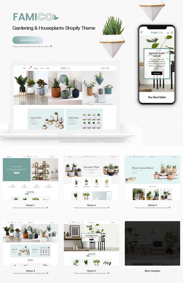 Gardening and Houseplants Shopify Theme