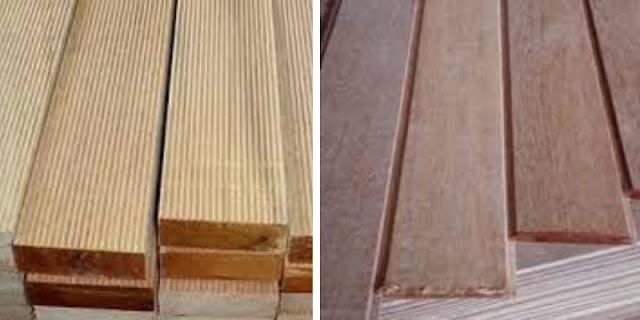 lantai kayu dan plafon keruing