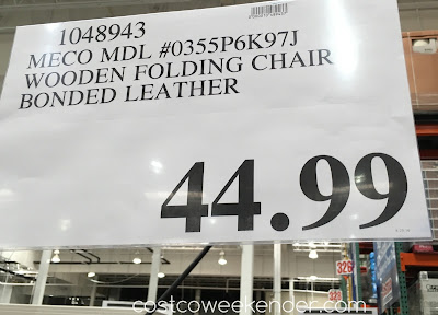 Costco 1048943 - Deal for the Meco 0355P6K97J Wooden Folding Chair with Bonded Leather at Costco
