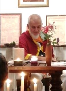 Francisco Barreto, instantes antes do início da cerimônia de consagraçào do Ashram Brahmala (08.04.18)