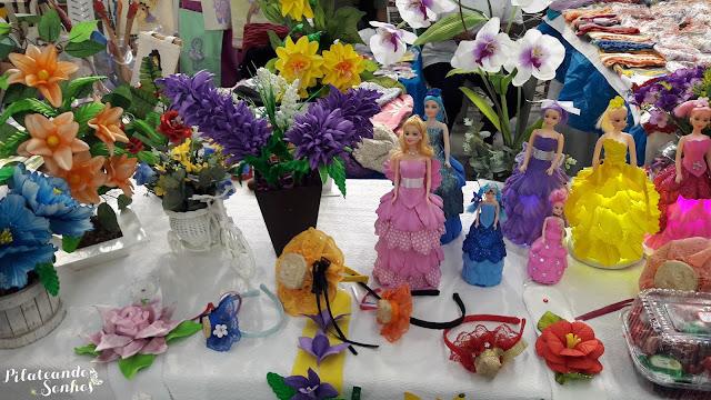 boencas de eva, arcos, flores de eva, artesanato, expo bem estar, Ciana Andrade, Pilateando Sonhos