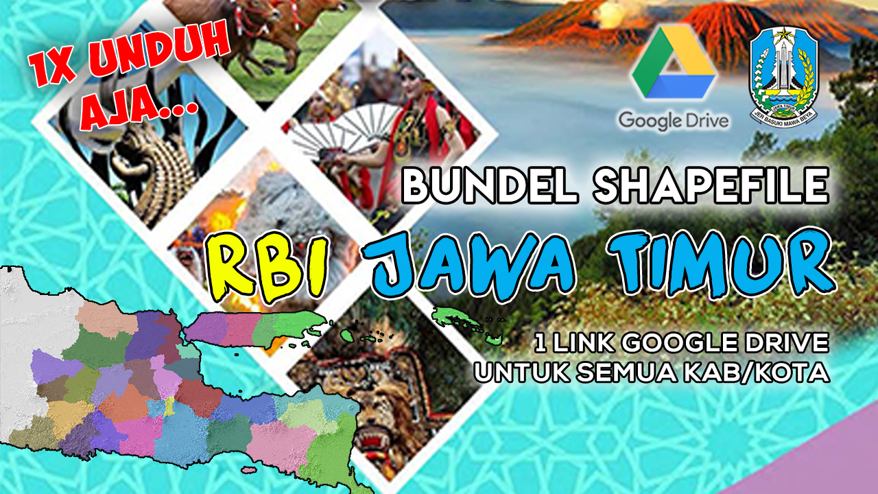 Bundel Data Shapefile (SHP) RBI Provinsi Jawa Timur Gratis