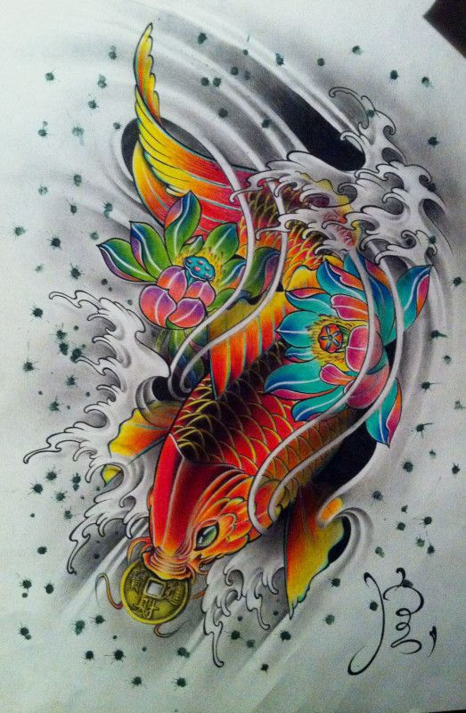 Dise os para tatuajes de pez koi ideas de tatuajes for Pez koi pequeno