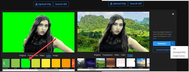 aggiungere sfondi colorati e immagini a video