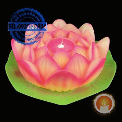 Nến led hoa sen điện tử tim dao động