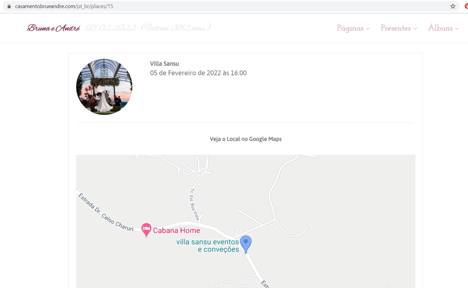 Site icasei - mapa do local