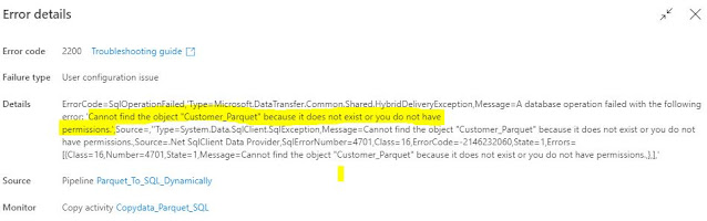 """Cannot find the object """"xxx"""" because it does not exist or you do not have permissions."""