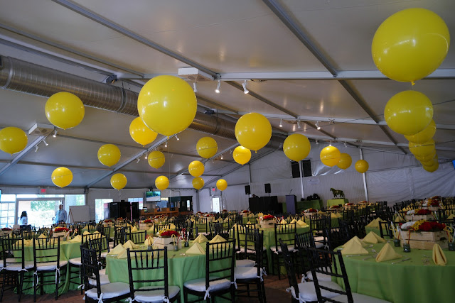 giant balloons, balloon decor,yellow balloons