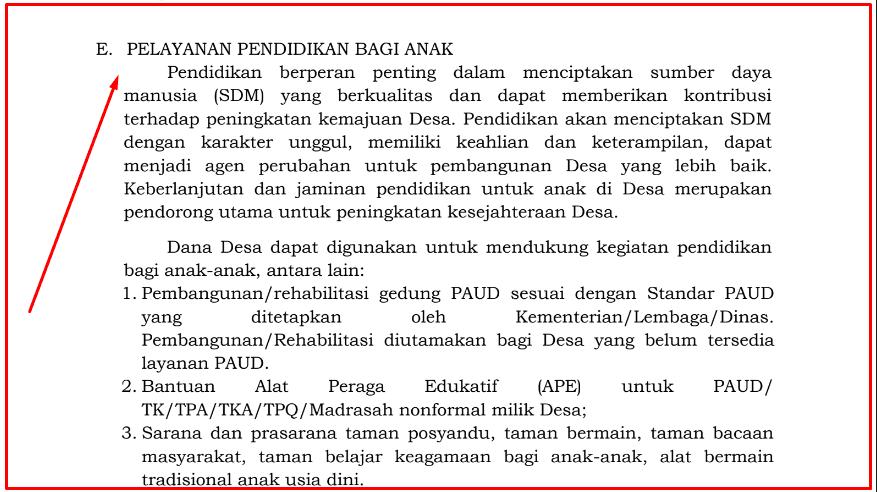 Pelayanan Pendidikan Bagi Anak Dalam Permendes  Pelayanan Pendidikan Bagi Anak Dalam Permendes 7/2020