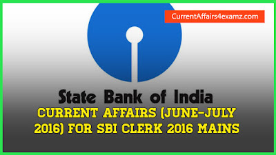 SBI Current Affairs 2016