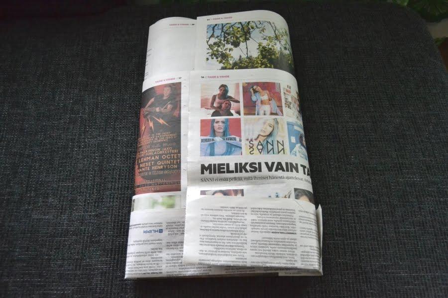 tabloid lehdestä biojätepussi
