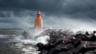 Lighthouse in a storm - courtesy unsplash.com