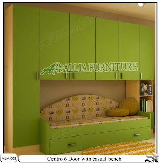 Lemari Pakaian Modern Minimalis dan Sofa Centro Green