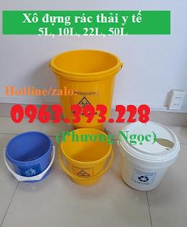 Xô đựng kim tiêm, hộp đựng vật sắc nhọn, xô đựng rác thải y tế 978394102537