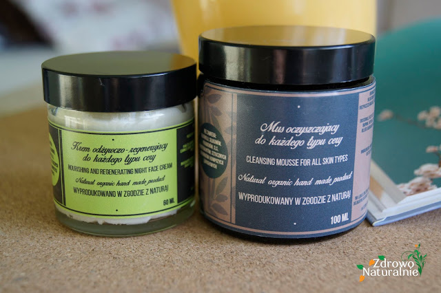 Ręcznie robione kosmetyki Green Anna - Krem odżywczo-regenerujący i Mus oczyszczający