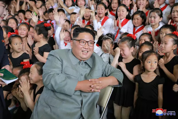 Kim Jong Un at 250-Mile Journey for Learning Schoolchildren's Palace, June 1, 2019
